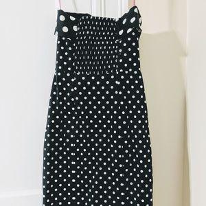 Betsey Johnson Dresses - Betsey Johnson ▪ Polka Dot Bow Strapless Dress